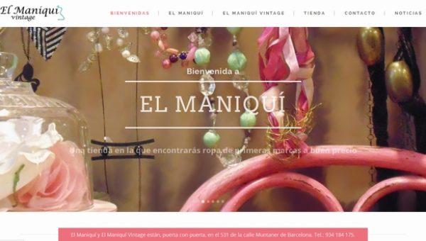 Diseñamos la web de El Maniquí Vintage