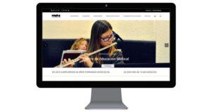 Diseño web: diseñamos la nueva web de la escuela de música Diaula_Lladó Comunicación
