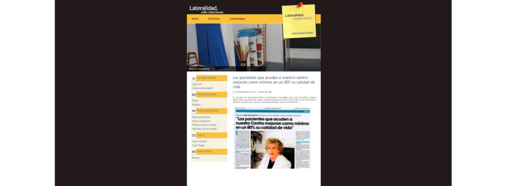 SEO: la web del Centro de Lateralidad alcanza las 18 000 visitas mensuales