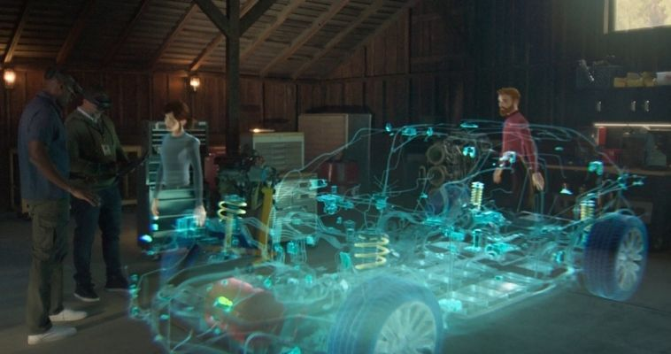 Con Microsoft Mesh, personas ubicadas en distintos puntos geográficos se podrán reunir en un mismo espacio virtual como avatares u hologramas.